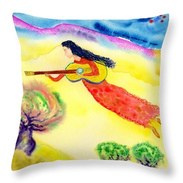 Musical Spirit 12 Throw Pillow