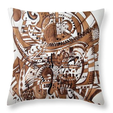 Musical Theater Throw Pillow by Nancy Kane Chapman