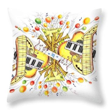 Musicality 2 Throw Pillow