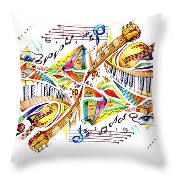 Musicality Throw Pillow