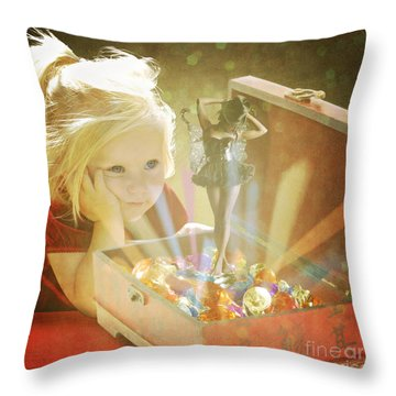 Musicbox Magic Throw Pillow by Linda Lees