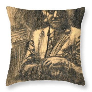 Musician Throw Pillow by Kendall Kessler