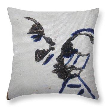 Musicman - Tile Throw Pillow by Gloria Ssali
