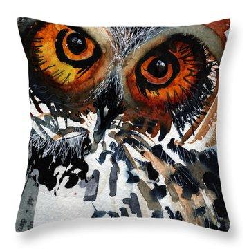 Musicowl Throw Pillow