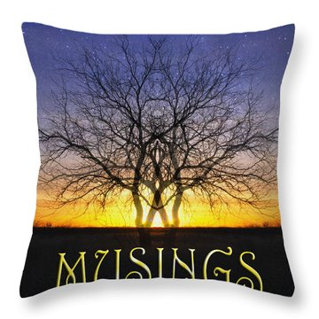 Musings Cover Throw Pillow