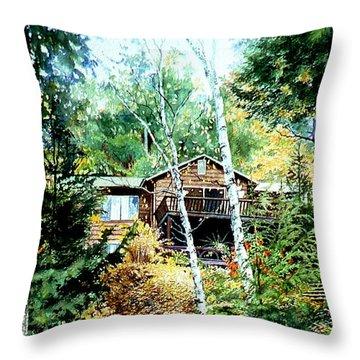Muskoka Cottage Retreat Throw Pillow