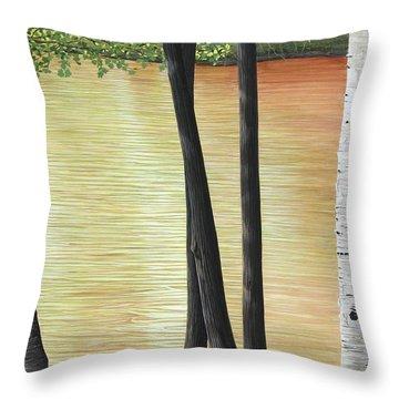 Muskoka Lagoon Throw Pillow by Kenneth M  Kirsch