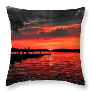 Muskoka Sunset Throw Pillow