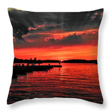 Muskoka Sunset Throw Pillow