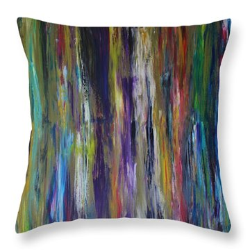 Throw Pillow featuring the painting Must First Survive Thyself by Michael Cross