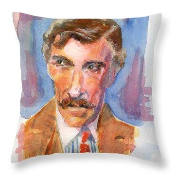 Mustache Throw Pillow by Marsden Burnell