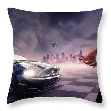 Mustang Throw Pillow by Bruno Santoro
