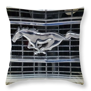 Mustang Emblem Throw Pillow by Victor Montgomery