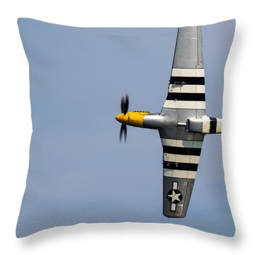 Throw Pillow featuring the photograph Mustang Flyby D-day by Scott Lyons