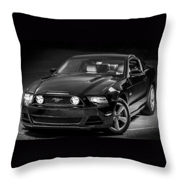 Mustang Gt Throw Pillow