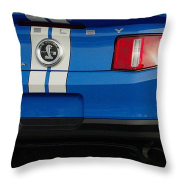 Mustang Shelby Cobra Gt 500 Throw Pillow by James C Thomas