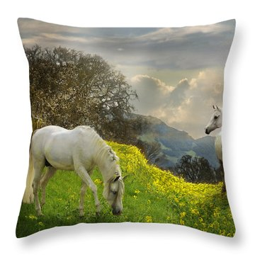 Mustard Reunion Throw Pillow