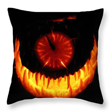 Throw Pillow featuring the sculpture Mutant Strawberry Clock by Shawn Dall