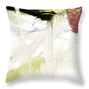 Muted Clay White Throw Pillow