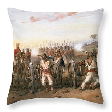 Mutineers About To Be Blown From Guns Throw Pillow
