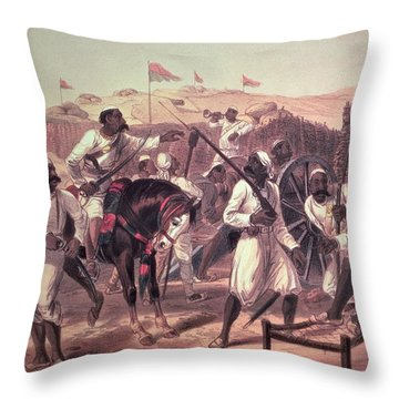 Mutinous Sepoys, From The Campaign Throw Pillow