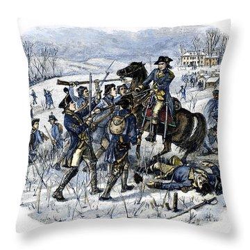 Mutiny: Anthony Wayne 1781 Throw Pillow by Granger