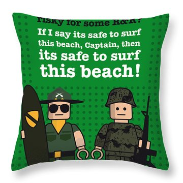 My Apocalypse Now Lego Dialogue Poster Throw Pillow