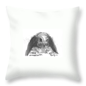 My Baby Bunny Throw Pillow