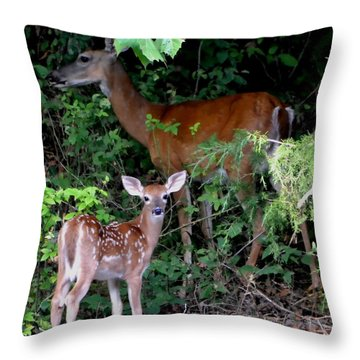 Throw Pillow featuring the photograph My Baby by Deena Stoddard
