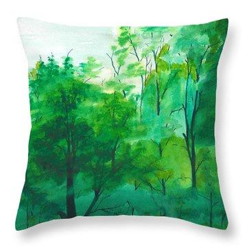 My Backyard Throw Pillow