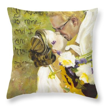 My Beloved Is Mine Throw Pillow