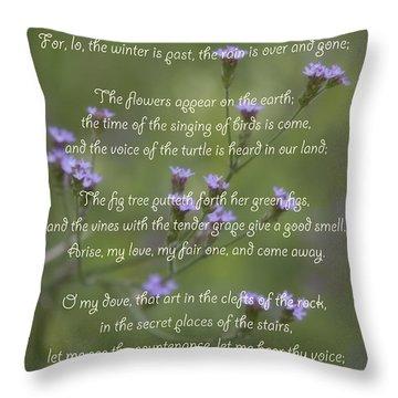 My Beloved Spoke - Purpletop Vervain Verbena Bonariensis Throw Pillow