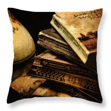 Throw Pillow featuring the photograph My Best Friend Jane by Lois Bryan