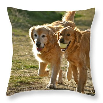 My Bff Throw Pillow