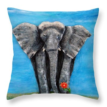 My Big Friend Throw Pillow
