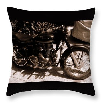Royal Enfield Bullet 350 Throw Pillow