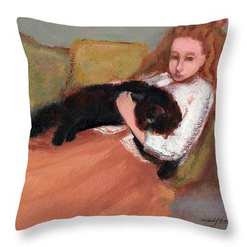 My Black Cat Throw Pillow