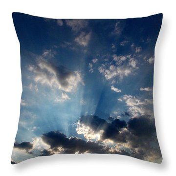 Throw Pillow featuring the photograph My Blue Heaven by Carolyn Repka