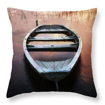 My Boat Is Sinking Throw Pillow