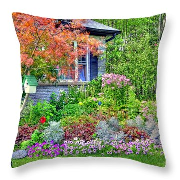 My Corner Of The World Throw Pillow by Kathleen Struckle