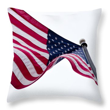 Throw Pillow featuring the photograph My Country 'tis Of Thee by Courtney Webster