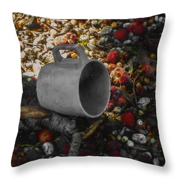 My Cup Falleth Over Throw Pillow by Steve Taylor