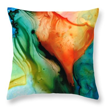 My Cup Runneth Over - Abstract Art By Sharon Cummings Throw Pillow