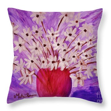 My Daisies Throw Pillow