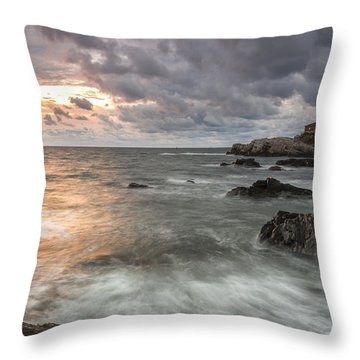 My Day Begins Throw Pillow