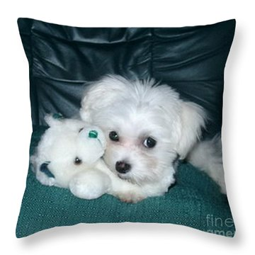 My Dog Maggie Throw Pillow