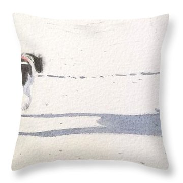 My Dog Throw Pillow by Yoshiko Mishina