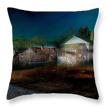 Throw Pillow featuring the photograph My Dream House by Gunter Nezhoda