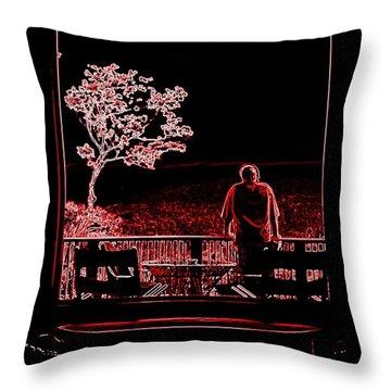 My Dreamer Throw Pillow by Karen Wiles