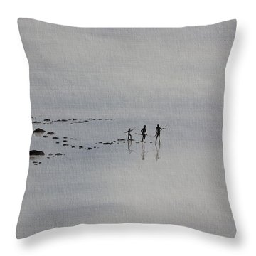 My Dreamtime 1 Throw Pillow by Tim Mullaney